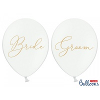Balonky Bride & Groom - 6 ks