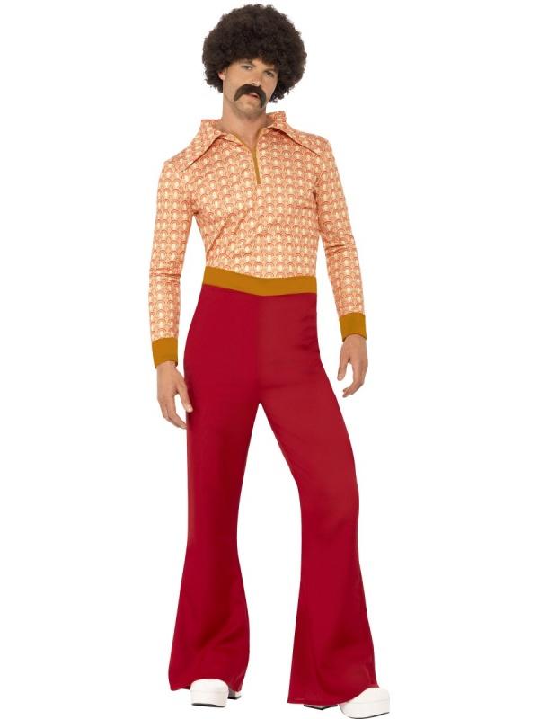 0c98d8412945 Kostým pro pány 70. léta oranžovočervený - Ptákoviny Florenc